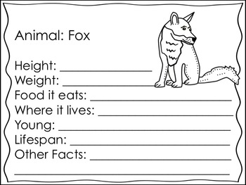 Forest Animals Research and Writing Journal {Student Created}