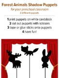 Forest Animals Shadow Puppets, preschool music activity