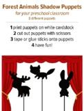 Shadow Puppets Forest Animals, preschool music activity