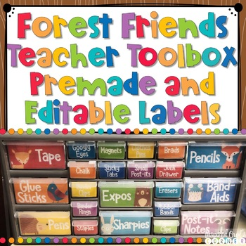 Forest Animals Teacher Toolbox Labels