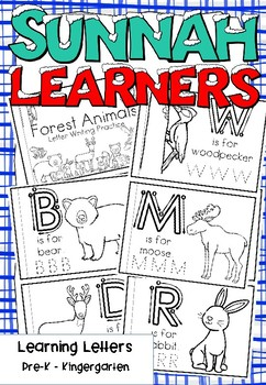 Forest Animals Themed Letter Learning Book (sunnah learners)