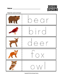 australian animals trace the words worksheets handwriting. Black Bedroom Furniture Sets. Home Design Ideas