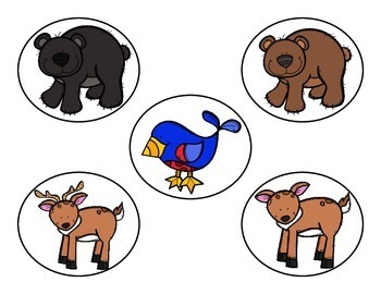 Forest Animals--Vocabulary Word Cards