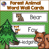 Forest Animals Word Wall Cards
