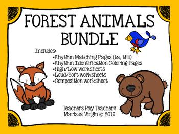 Forest Animals ta ti-ti Worksheet Bundle