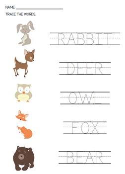 Forest Worksheets For Kindergarten