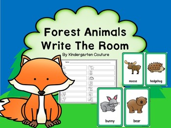 Forest Animals Write The Room