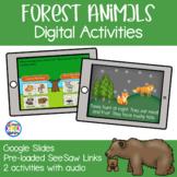 Forest Animals and Habitat Digital Activities | Google Sli