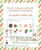 Forest Animals and Plants Worksheets and Games