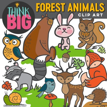 Forest Animals by Think Big Digital Clip Art