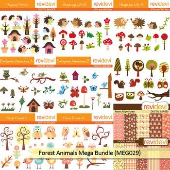 Forest Animals clip art mega bundle (9 packs)