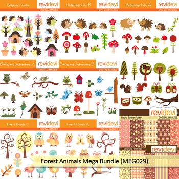 Forest Animals clip art mega bundle (9 packs)