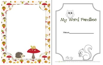 Forest BUNDLE -  All About Me & Word Families for Back To School & Morning Work