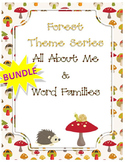 Forest BUNDLE -  All About Me & Word Families for Back To