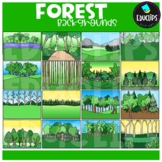 Forest Backgrounds Clip Art Set {Educlips Clipart}