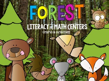 Forest Bundle Math and Literacy Centers, Crafts)
