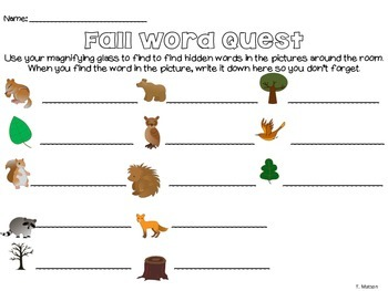 Forest CVC Word Quest