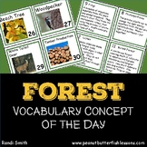 Forests Vocabulary Concept of the Day