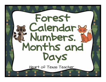 Forest Calendar Numbers, Months, Days