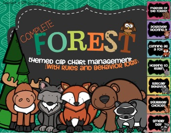 Forest/Camping Themed Clip Chart System