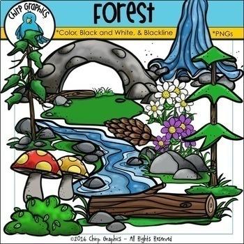 Forest Clip Art Bundle - Chirp Graphics