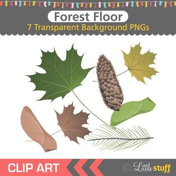 Forest Clip Art, Leaf Clip Art, Fall Clipart, Autumn Clipart, Nature Graphics