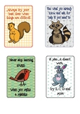 Forest Creature Growth Mindset Mini Posters