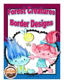 Forest Creatures Border Designs (Editable)