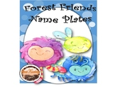Forest Creatures Nameplates (Editable)