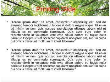 Forest Ecosystem PPT Template