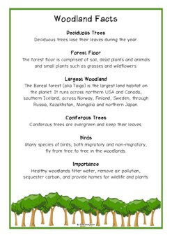 Forest Fact Cards