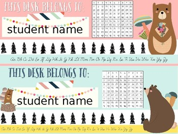 Forest Fantasy Woodland Classroom Decor EDITABLE!