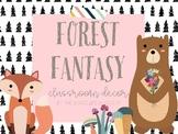 Forest Fantasy Woodland Classroom Decor EDITABLE!