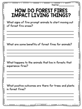 Forest Fire Science Reading