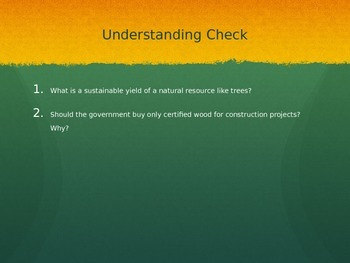Forest & Fisheries PowerPoint