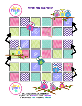 Forest Flap and Flutter Single and Double Digit Addition Game