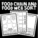 Forest Food Web and Food Chain Sort