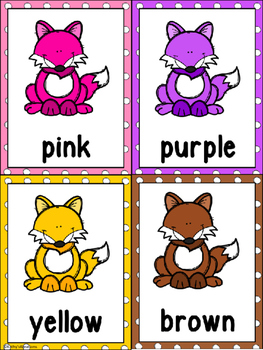 Forest Color Word Posters & Memory Cards