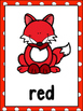 Forest /Fox Theme Color Word Posters & Memory Cards