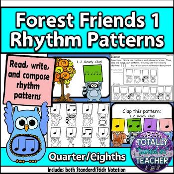 Forest Friends 1 Rhythm Pattern Fun Ta, Ti-Ti