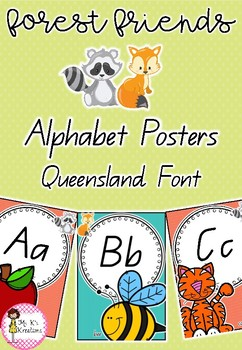 Forest Friends Alphabet Posters
