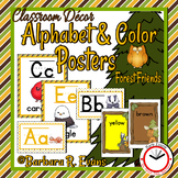 ALPHABET and COLOR POSTERS Forest Woodland Theme Classroom Decor Literacy