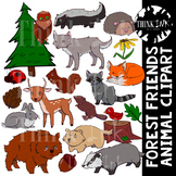 Forest Friends Animal Clipart