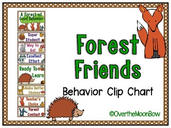 Forest Friends Behavior Clip Chart