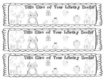 Forest Friends Book Care Bookmark and Activity