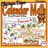CALENDAR MATH: Forest Animals Calendar, Woodland Animals Calendar,  Decor