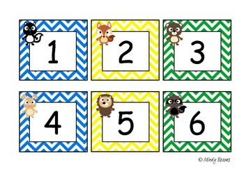 Forest Friends Calendar Number Cards