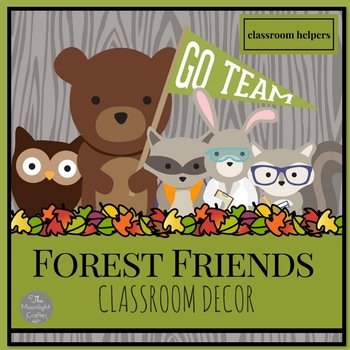 Forest Friends Classroom Helpers-Job Chart Editable