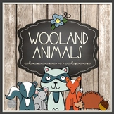 Woodland Animal Theme EDITABLE Classroom Helper Cards with EDITABLE NAME CARDS