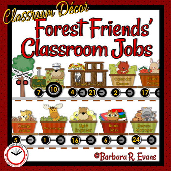 FOREST ANIMALS: Forest / Woodland Activity, Class Jobs Chart, Classroom Decor